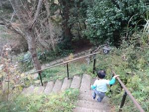階段を降りて。。。