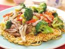 【歓菜勧菜亭】ブロッコリーと牛肉のあんかけ焼きそば