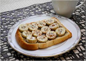 蜂蜜バナナトースト