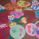 手作りのかわいい台紙に残そう!毎月、わが子の手形を… @三鷹