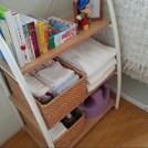 赤ちゃんの世話用小物はオープンかごにまとめると取り出しやすさが◎