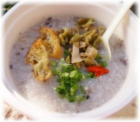 雑穀米の鶏粥
