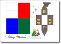 クリスマスハウス型紙