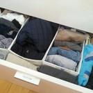 大きいサイズの服はサイズ別の箱収納とラベリングがポイント