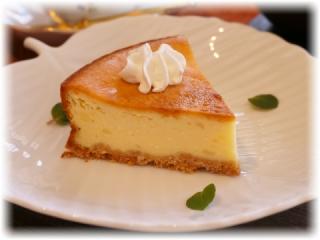 檸檬風味のチーズケーキ