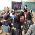 小学校でボランティア 「やまとアートシャベル」