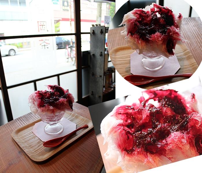 吉岡茶房@我孫子市のかき氷は日光・四代目徳次郎の天然氷で作る