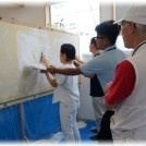 野田まちゼミにて推拿ツボ教室で頭痛ケア学び珪藻土壁塗りを体験する