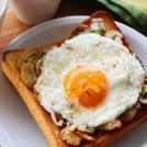 マッシュルームと卵のトースト 【時短朝食レシピ】