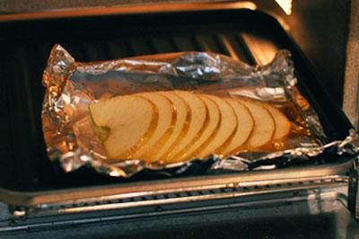 オーブントースターで7~8分焼く。