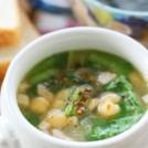 ひよこ豆と小松菜のスパイシースープ 【時短朝食レシピ】