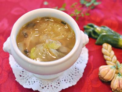 マッシュルームとねぎのスープ