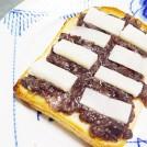お正月の残りで!もちバター餡トースト 【時短朝食レシピ】