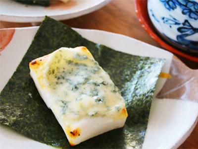 ブルーチーズと海苔の焼きもち