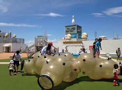 荻窪タウンセブン「あおぞらぱーく」で楽しい水遊びが無料!