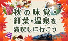 【JR東日本】秋の味覚・紅葉・温泉を満喫しに行こう!