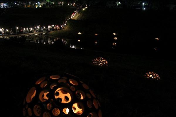利根運河ナイトシアター夜はこんなに幻想的に2012.
