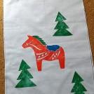 紙版画で作るクリスマス手ぬぐい(1回)