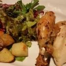 天神橋3「イル・ソーレ」の専用回転式オーブンで焼く赤鶏はパリふわ!