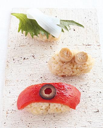 【レシピ】カラフルベジ にぎり寿司 3種