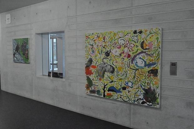 アーティスト・CHACKさんや子どもたちの作品が楽しめる贅沢な空間