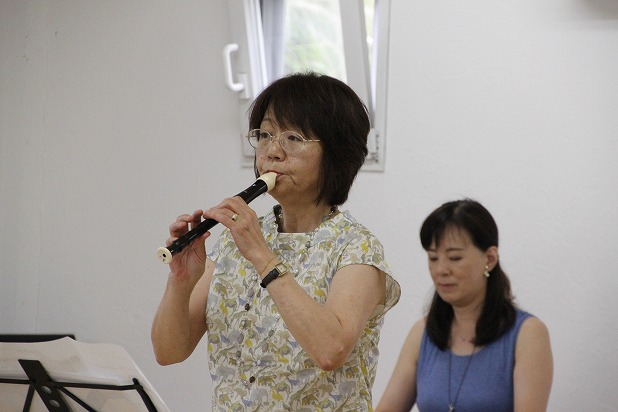 7リコーダーでゲスト出演の齋藤真理さん