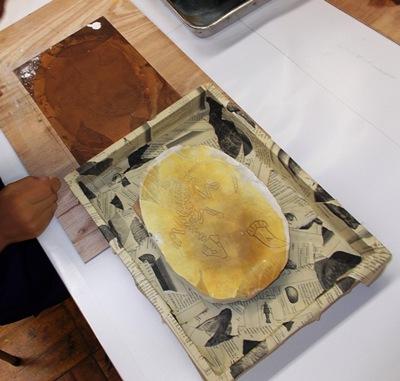夏期子ども講座「版画でオリジナル化石をつくってみよう!2016」町田市立国際版画美術館