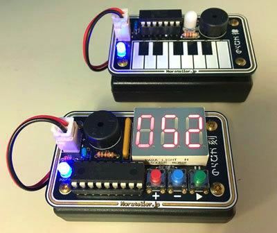 電子工作教室 電子ミニピアノまたは1/100秒タイマー