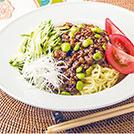 枝豆肉味噌のジャージャー麺