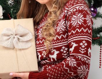 プレゼントのセーター