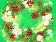 優しい花の絵「ファンタジック水彩画」  ~描きやすいオリジナルの手法で~