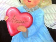 指で描くチョークアート  1回 幸せを運ぶ天使