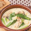 小松菜と牡蠣のチャウダー