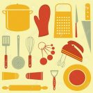 18175504-Colorful-kitchen-related-elements-composition-Stock-Vector-kitchen-cook