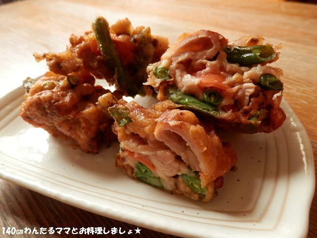 楽天レシピ開発参加~野菜も食べれるボリューム唐揚げ♪