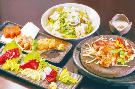 鹿児島黒豚と桜島鶏炙り焼きコース