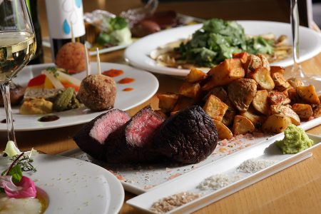 岩尚白金イチボのステーキ