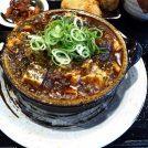 黒コショウが効いた麻婆豆腐。