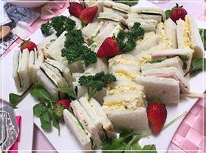 おうちでピクニック気分が味わえる♪ 「サンドイッチでおもてなし」
