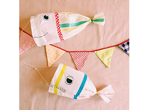 親子工作教室 初夏の風に泳げ!「レジ袋で作る♪鯉のぼりカイト」