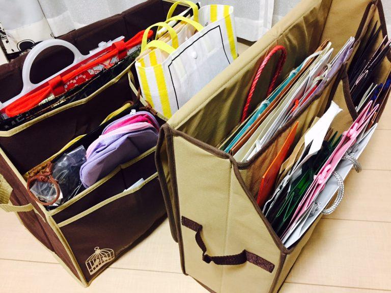 捨てられない紙袋をスッキリ収納!紙袋ストッカーの活用