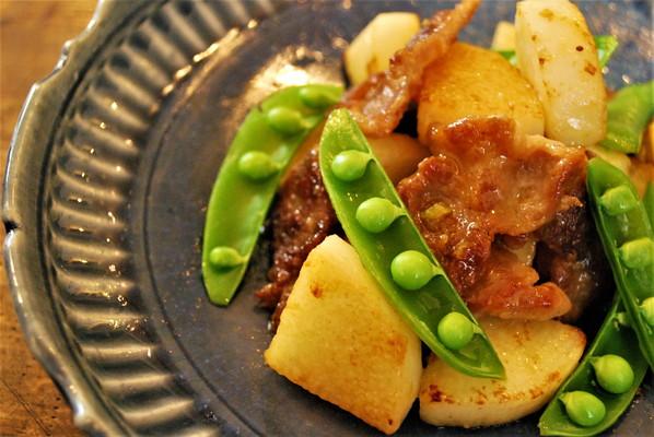 豚肉と長芋のわさび醤油炒め 余ったチューブのわさび有効活用レシピ