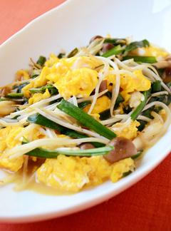 卵・ニラ・モヤシのオイスターソース炒め