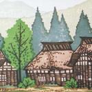 八王子のギャラリーで「尾身伝吉 木版画の世界 -故郷の夏便り-」展