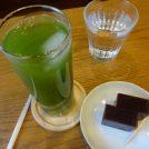 緑茶と水ようかん