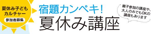 【参加者募集】宿題カンペキ! 夏休み講座2017