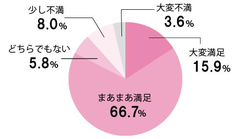 大変満足 15.9% まあまあ満足 66.7% どちらでもない 5.8% 少し不満 8.0% 大変不満 3.6%
