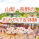 山梨と長野のとっておき「おみやげ&体験」プレゼント!