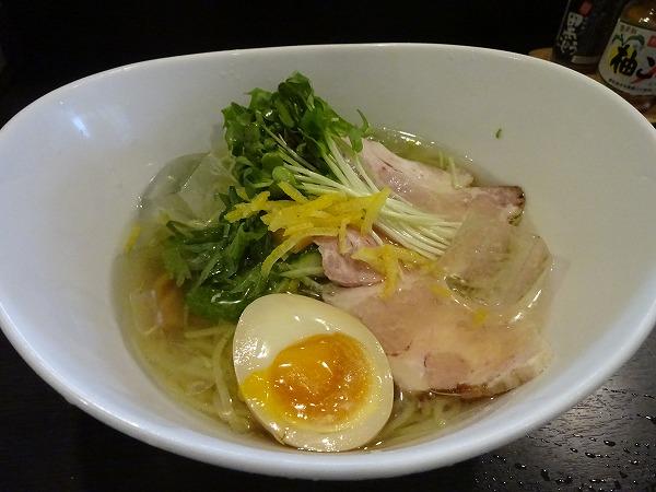 「冷やし柚子塩ラーメン」で夏を満喫!新大阪「らぁ麺屋 ありがたいが」