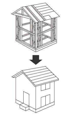 柱・梁で支える木造軸組工法